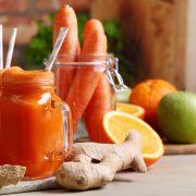 اسموتی هویج و پرتقال؛بمب ویتامین C