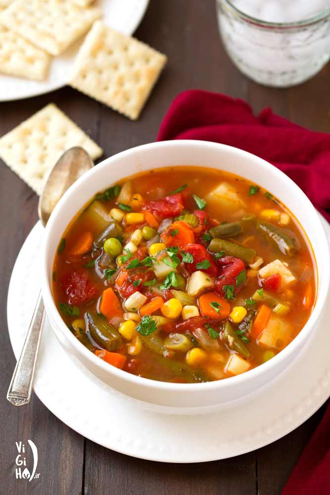 طرز تهیه سوپ سبزیجات کامل