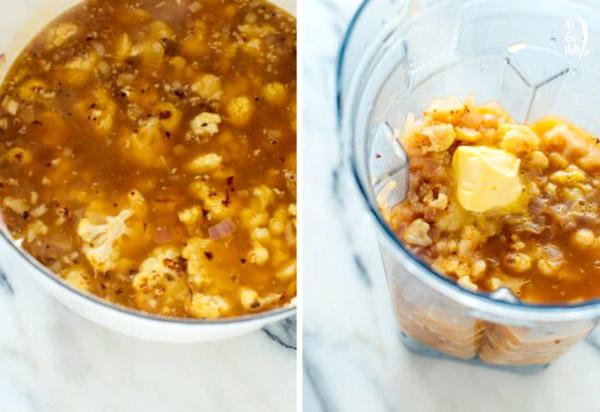 دستور پخت سوپ گل کلم خامهای