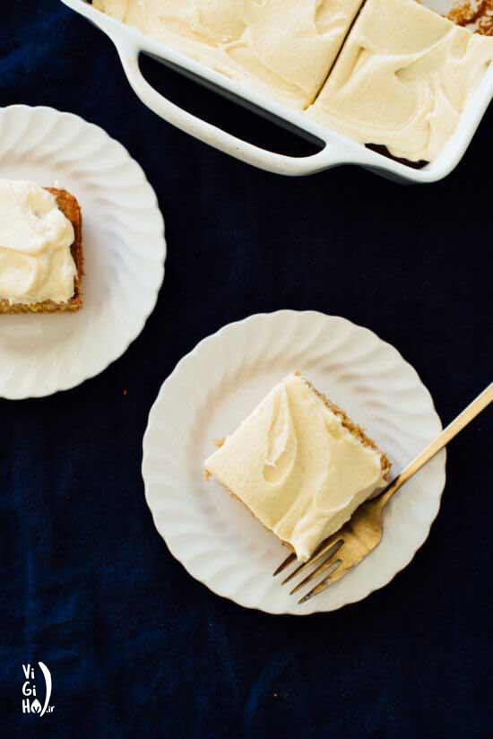 طرز تهیه کیک موز خامه ای