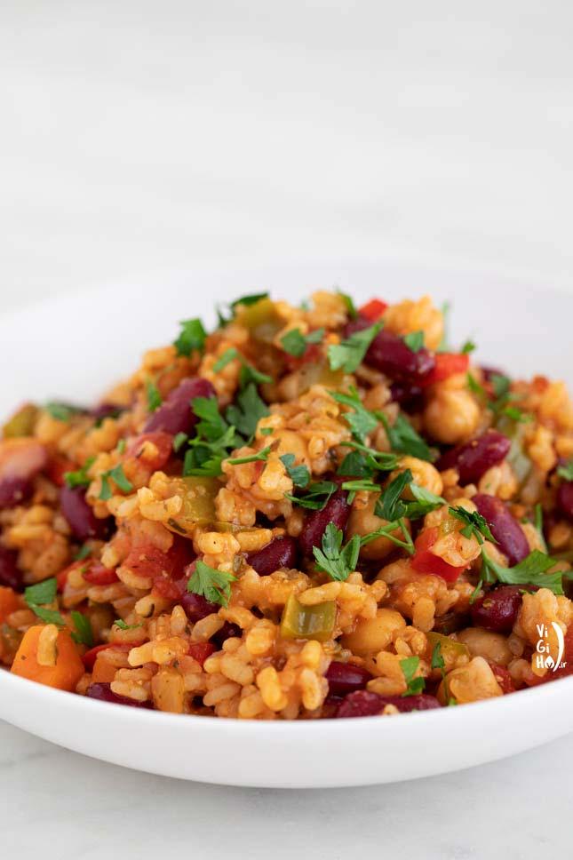 طرز پخت جامبالایا وگان اسپانیایی