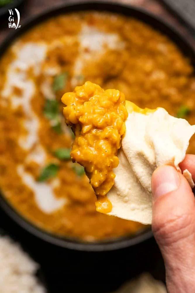 روش پخت خوراک دال عدس