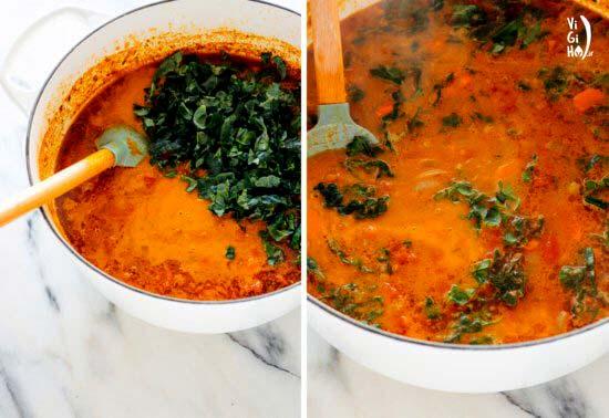 دستور پخت سوپ عدس وگن