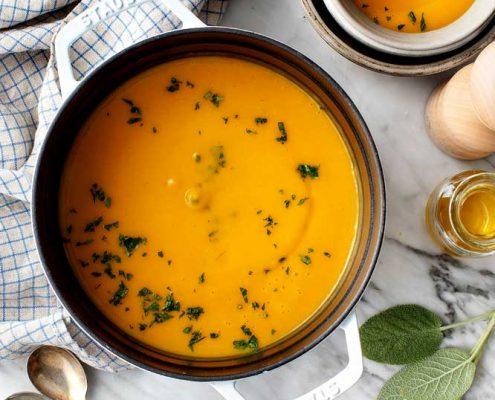 دستور تهیه سوپ کدو حلوایی وگن