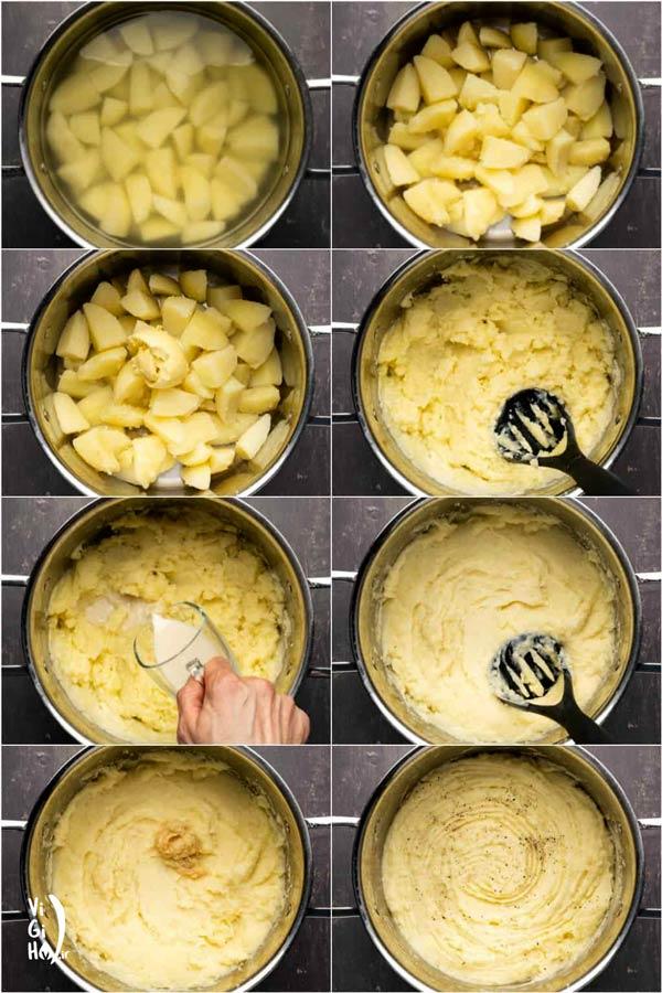 طرز تهیه پوره سیب زمینی وگن