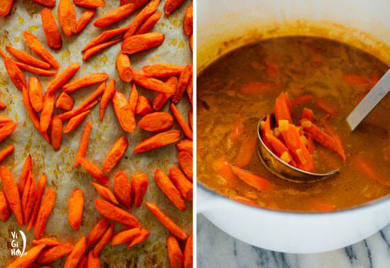 طرز تهیه سوپ هویج تنوری و خامهای