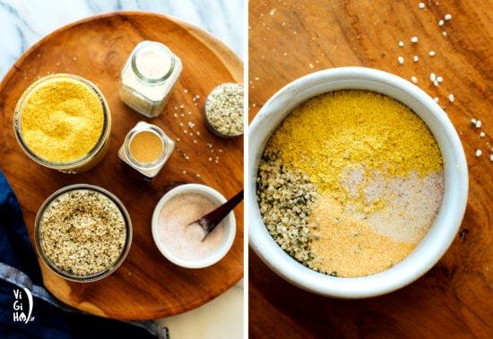 طرز تهیه پنیر پارمسان آسان وگان