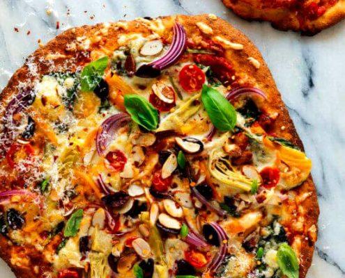 روش پخت پیتزای اسفناج گیاهی خوشمزه