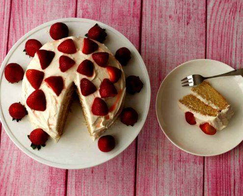 آموزش دستور تهیه کیک وانیلی وگان