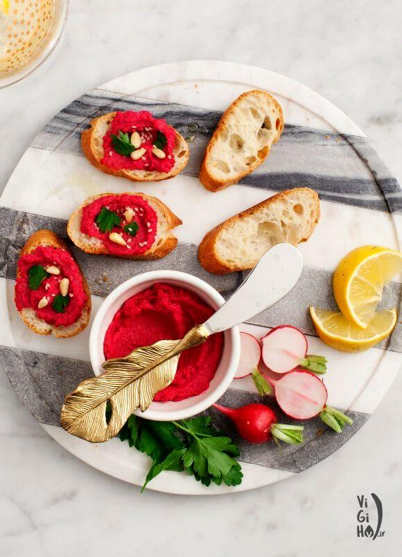 طرز تهیه حمص لبو؛ یک پیش غذای خوشرنگ و جذاب