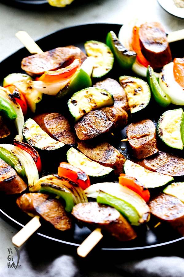 طرز تهیه کباب سوسیس گیاهی (وگان)