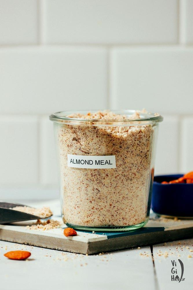 طرز تهیه پودر بادام خانگی
