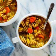 روش پخت سوپ پاستا با نخود