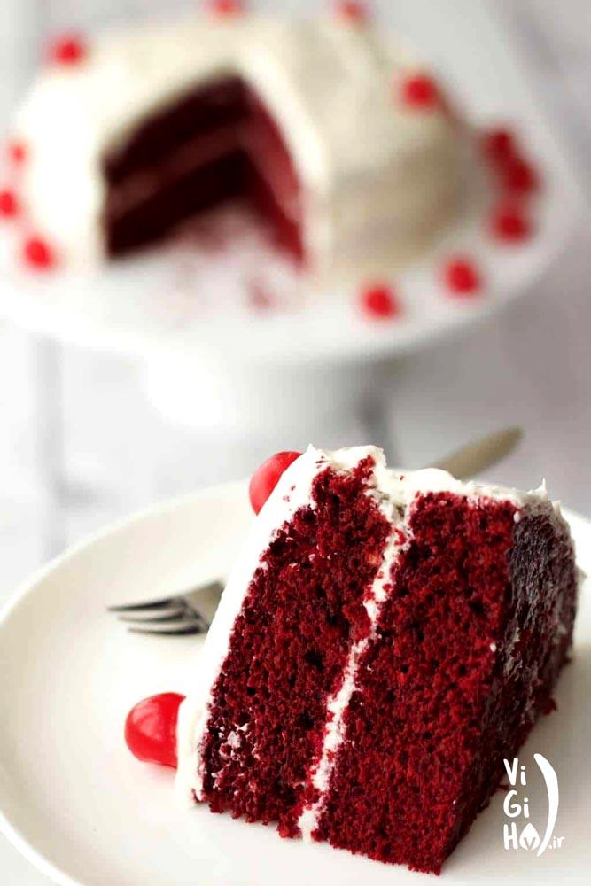 طرز تهیه کیک رد ولوت (مخمل قرمز) وگان
