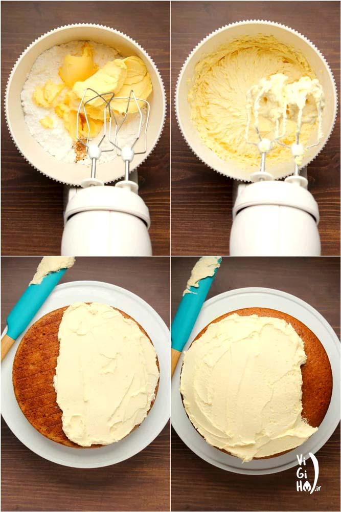 طرز تهیه خامه روی کیک کره ای وگان