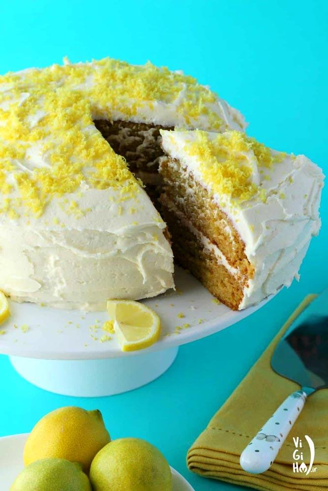 طرز تهیه کیک لیمویی وگان