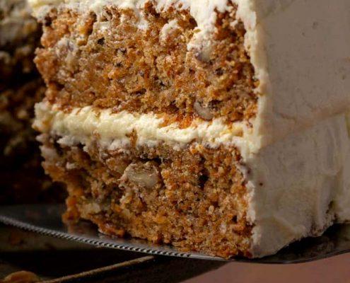 طرز تهیه کیک هویج و گردو وگان