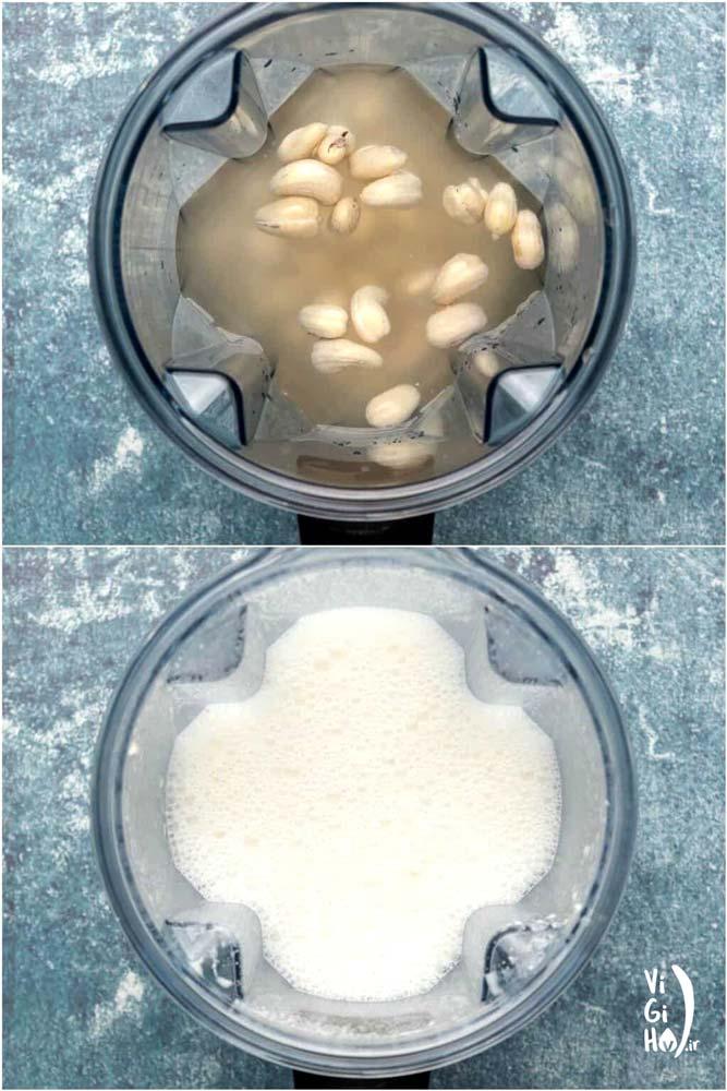 طرز تهیه شیر بادام هندی