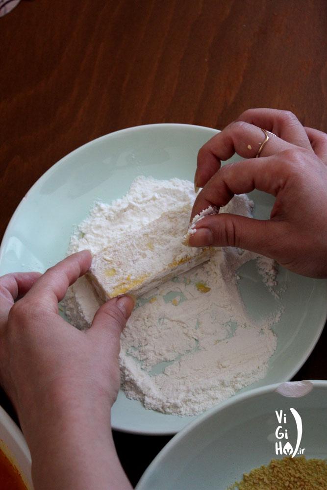 طرز تهیه سبزی پلو با توفو سوخاری
