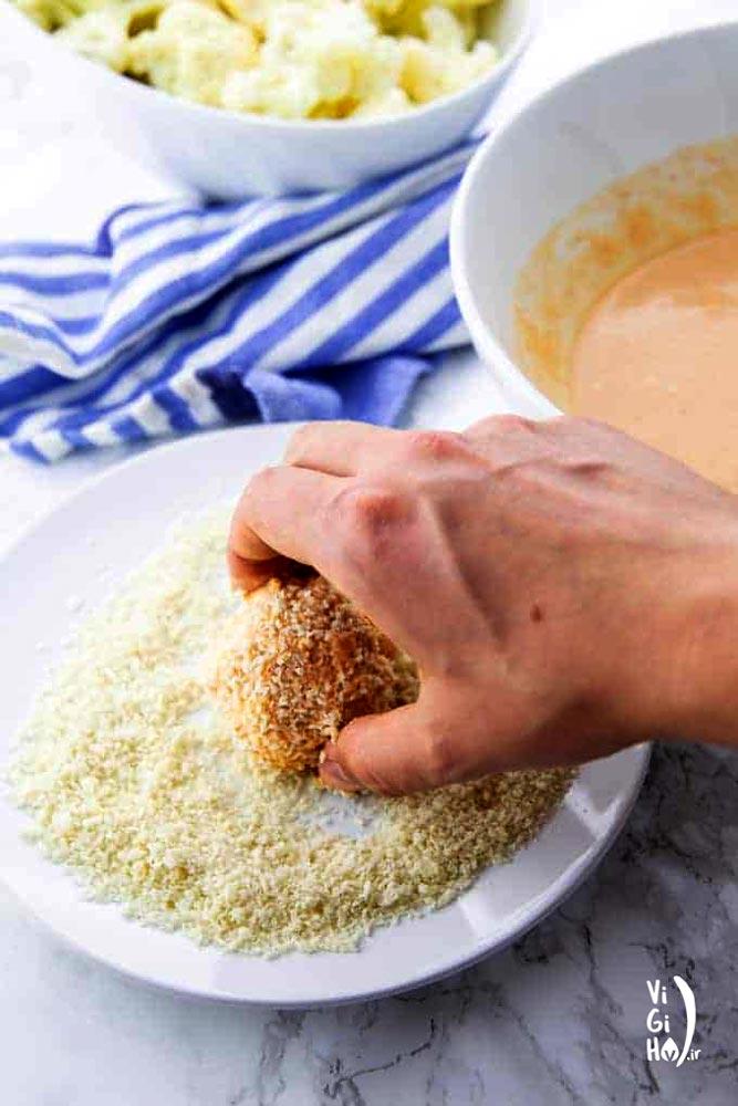طرز تهیه گل کلم سوخاری با سس باربیکیو