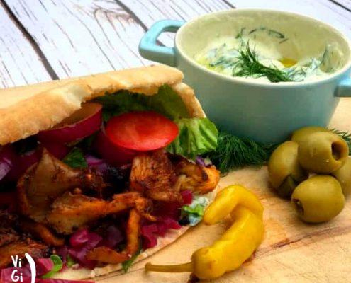 طرز تهیه کباب ترکی شاورما گیاهی با قارچ