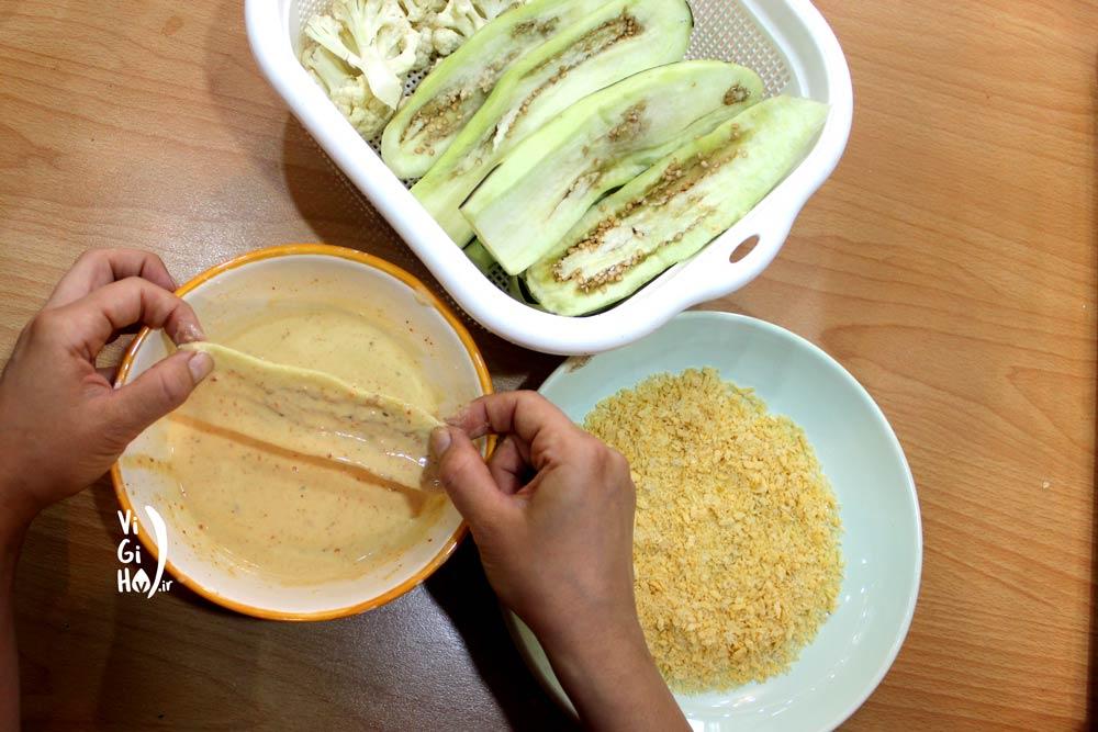 طرز تهیه بادمجان سوخاری در فر
